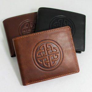 New Ireland Celtic Genuine Leather Wallet Mens